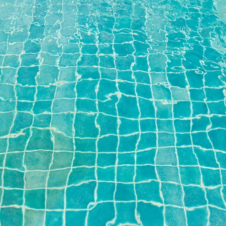 aqua blue tile in pool for background Stock Photo