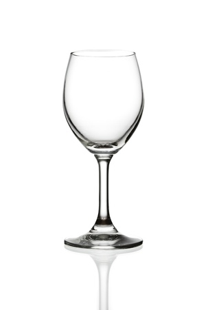 empty wine glass isolated photo