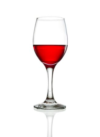 red wine glass isolated photo