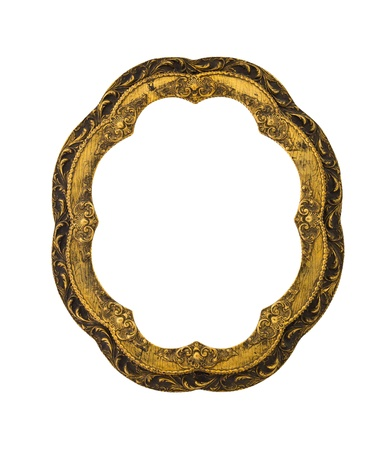 ancient style frame isolated with clipping path photo