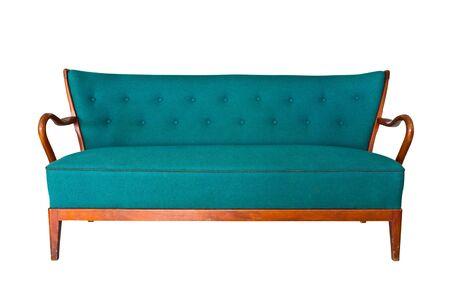 green sofa isolated  photo