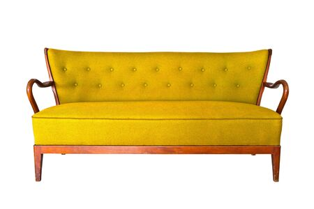 yellow sofa isolated  photo
