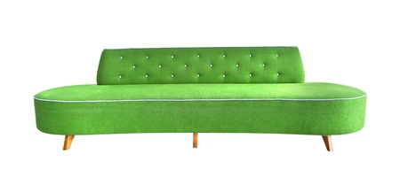 green sofa isolated photo