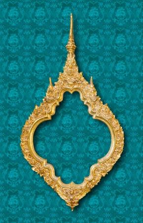 golden sculpture frame  photo