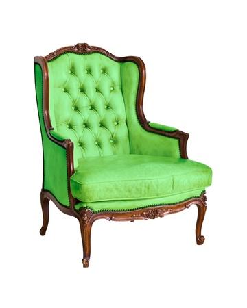 vintage luxury armchair isolated