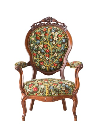 antique chair: vintage armchair isolated