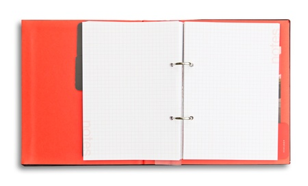 red notebook isolated photo