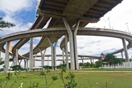 bhumibol: Bhumibol bridge in Samut Prakarn Bangkok, Thailand