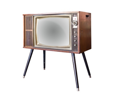 vintage television isolated photo