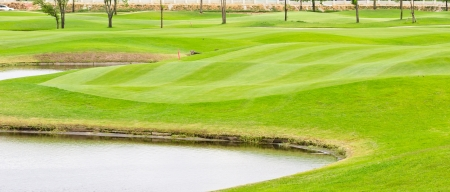 sand bunker in golf course photo