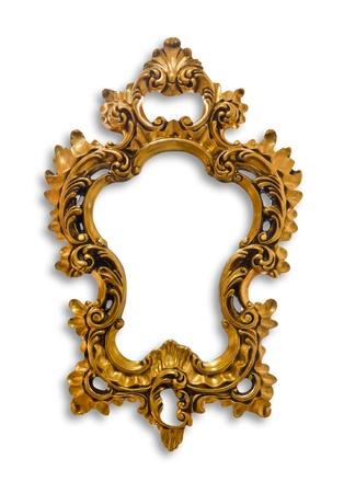frame of golden isolated