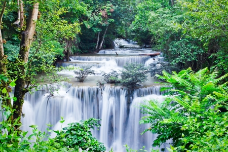 water fall , hua mae kamin level 4 kanchanaburi thailand photo