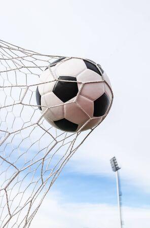 soccer net: soccer ball in goal net