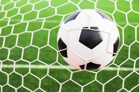 soccer net: soccer ball in the goal net