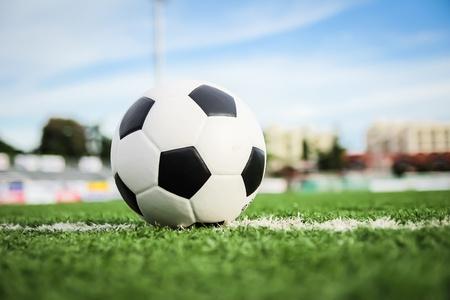 soccer ball on green grass Stock Photo - 15757477