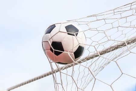 football in the goal net Stock Photo - 16682994