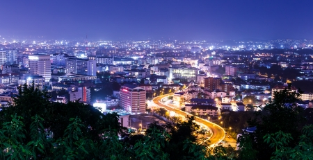pattaya city in thailand at night photo