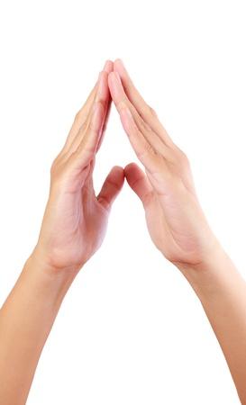 reverential: mettere le mani in segno di saluto