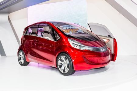 Bangkok Dec 03 Tata Megapixel Electric Eco Concept Car On Display