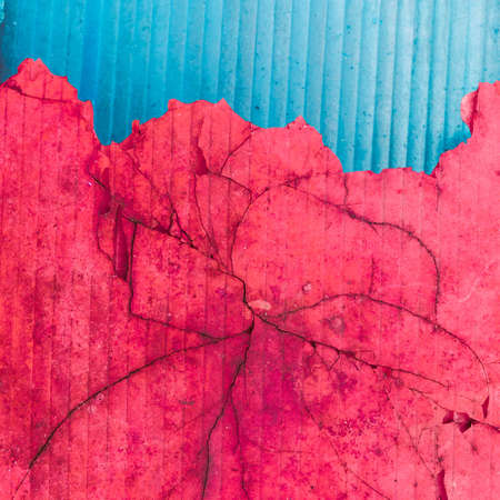 blue and red grunge cracked background photo