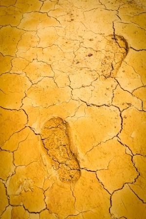 sump: impronta sul suolo crepa asciutto Archivio Fotografico