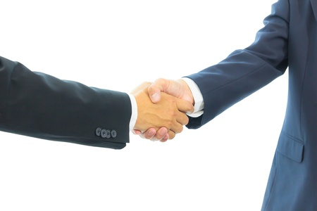 business man shaking hands isolated Standard-Bild