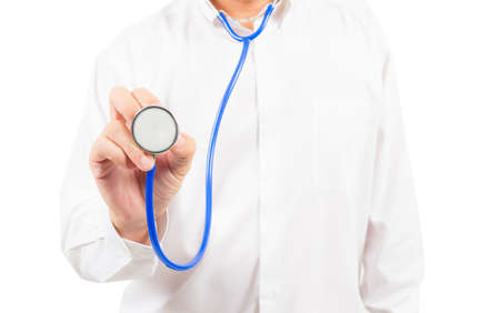 stethoscope in doctor's hand photo