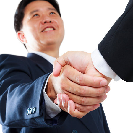 business man shaking hands isolated photo
