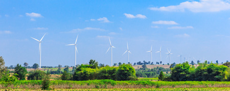 megawatt: wind turbine clean energy concept Stock Photo