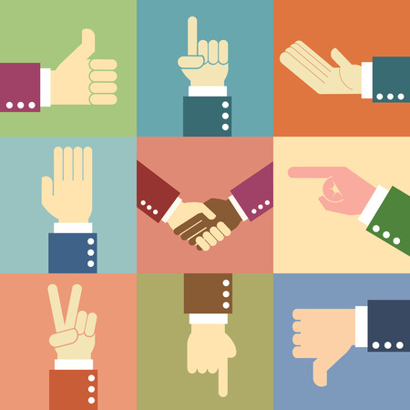 Pleading: business man hand,illustration,vector