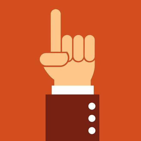 pointing up: business man hand pointing up,illustration,vector