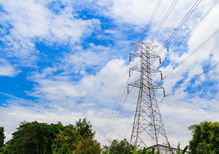 electricity pylon: Electricity high voltage pylon