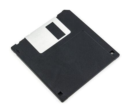 megabyte: black diskette isolated on white background