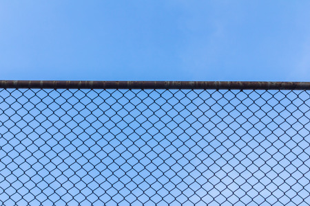 chain link fence: wire fance