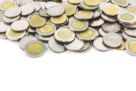 money coin isolated on white background photo