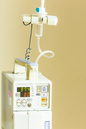 saline solution: infusion pump, saline solution equipment