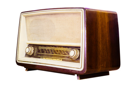transistor: vintage radio isolated  Stock Photo