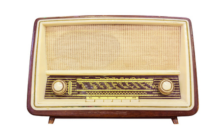 retro radio: vintage radio isolated  Stock Photo