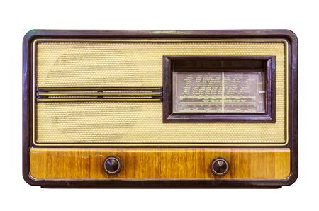 vintage radio: vintage radio isolated Stock Photo