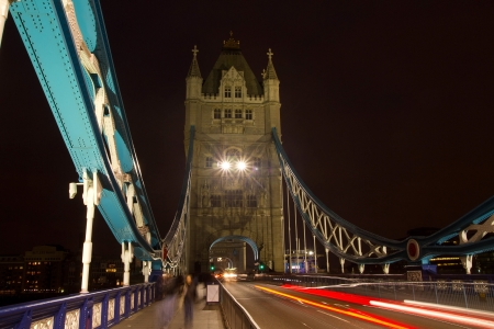 On Tower bridge, london in the night time