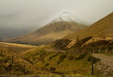 The mountains in Scotland in the cloudy day  Stock Photo