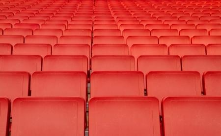 Red seats in big stadium