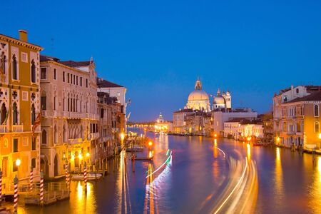 Evening time at grand canal,venice, italy  photo