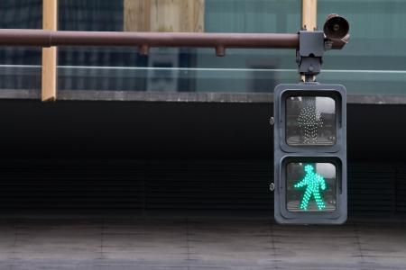 Green light of the traffic light