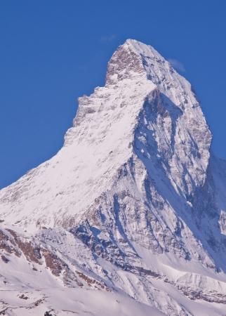 Top of Matterhorn in Zermatt, Switzerland Stock Photo