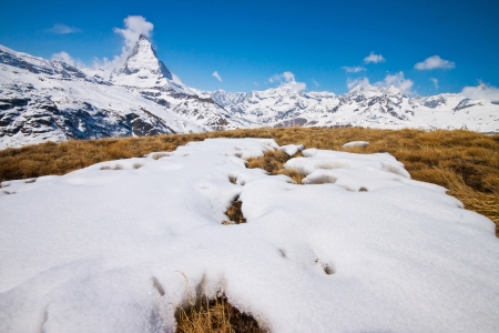 Matterhorn with the snow in front