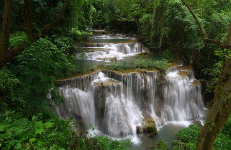 Huay Mae Khamin, a big waterfall ,Thailand