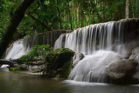 Huay Mae Khamin, a great beautiful waterfall ,Thailand