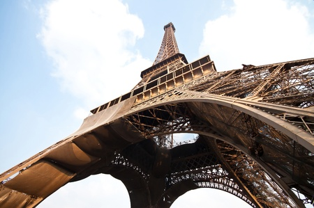 eiffel tower,the symbol of Paris France Stock Photo