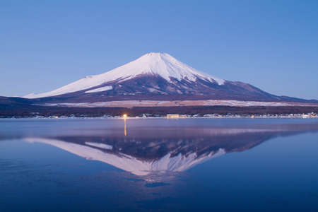 The reflection of Mt Fuji in early morning
